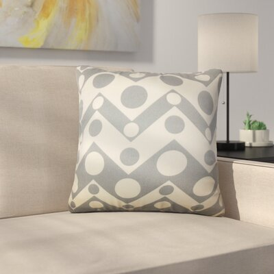 Rudnick Geometric Cotton Throw Pillow Color: Gray
