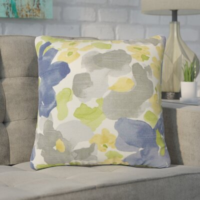 Yonkers Floral Cotton Throw Pillow Color: Gray
