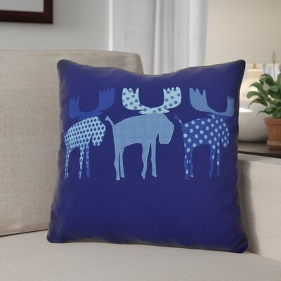 Christmas Decorative Holiday Animal Print Throw Pillow Size: 18 H x 18 W, Color: Blue