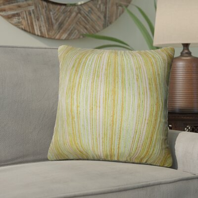 Aristocrat Stripes Throw Pillow Color: Gold/Green