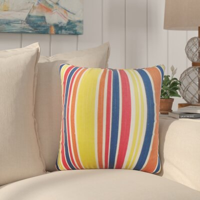 Frances Stripe Cotton Throw Pillow Color: Pink