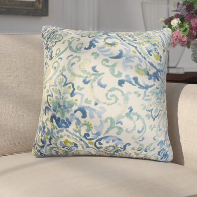 Annuziata Floral Cotton Throw Pillow Color: Blue/Green