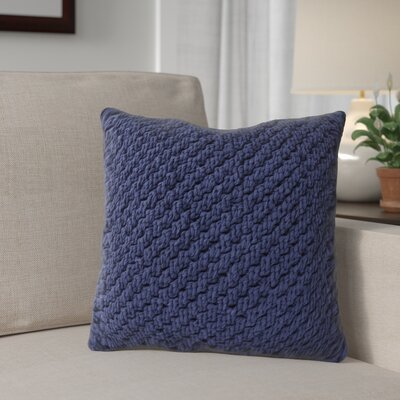 Heartwood Knot Cotton Throw Pillow Color: Navy