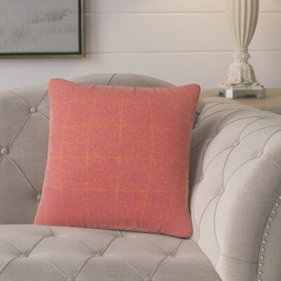 Harshil Plaid Down Filled Throw Pillow Size: 22 x 22, Color: Red