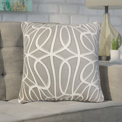 Nusbaum Geometric Cotton Throw Pillow Color: Gray