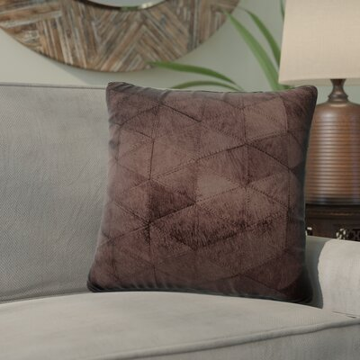 Graham Mosaik Leather Throw Pillow Color: Chocolate