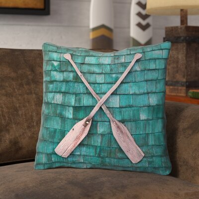 Brushton Rustic Oars Square Throw Pillow with Zipper Size: 18 x 18