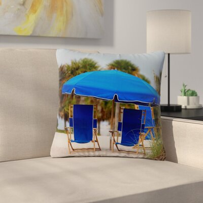 Angie Turner Ready to Relax Digital Photography Outdoor Throw Pillow Size: 18 H x 18 W x 5 D