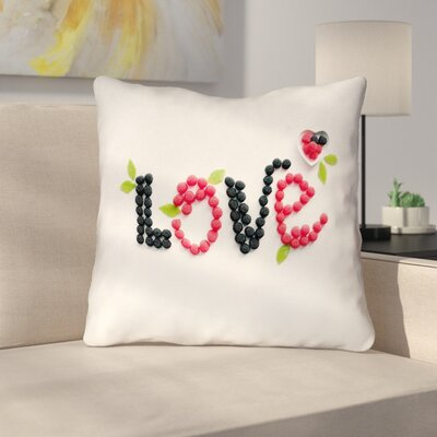 Buoi Love & Berries Double Sided Print Throw Pillow Size: 16