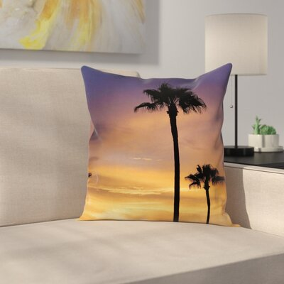 Tropical Exotic Coconut Dreamy Square Pillow Cover Size: 24 x 24