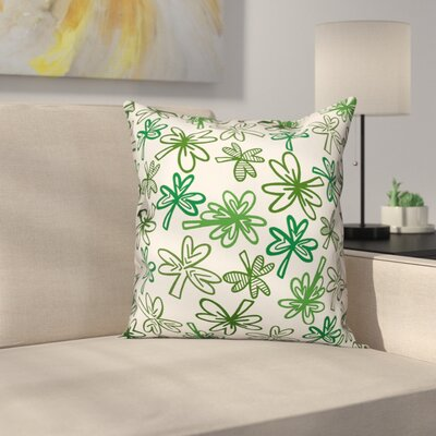 McGinty Sketch Clover Throw Pillow
