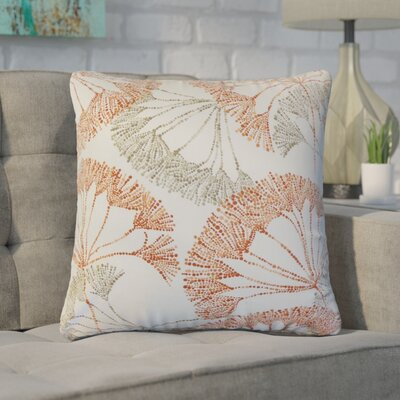 Witman Floral Cotton Throw Pillow Color: Persimmon