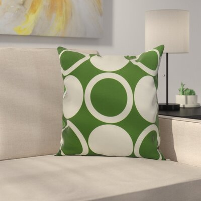 Memmott Mod Circles Throw Pillow Color: Green, Size: 26 x 26