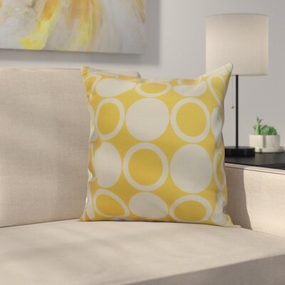 Memmott Small Mod-circles Throw Pillow Color: Yellow, Size: 18 x 18