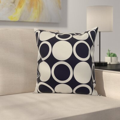 Memmott Small Mod-circles Throw Pillow Color: Navy Blue, Size: 16 x 16