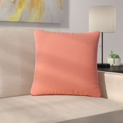 Mayne Water Resistant Square Outdoor Throw Pillow Color: Coral