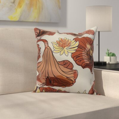 Memmott Throw Pillow Color: Red/Orange, Size: 20 x 20