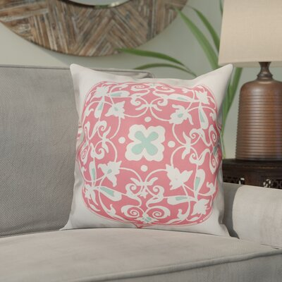 Clayborn Circle Throw Pillow Color: Pink