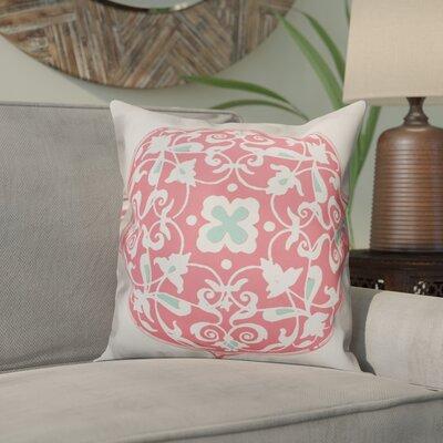 Clayborn Circle Throw Pillow Color: Pink