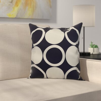 Memmott Mod Circles Throw Pillow Color: Navy Blue, Size: 18 x 18