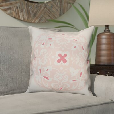 Clayborn Circle Throw Pillow Color: Coral