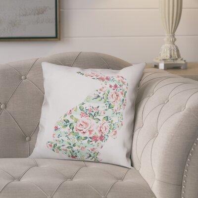 Critchfield Floral Curious Rabbit Throw Pillow