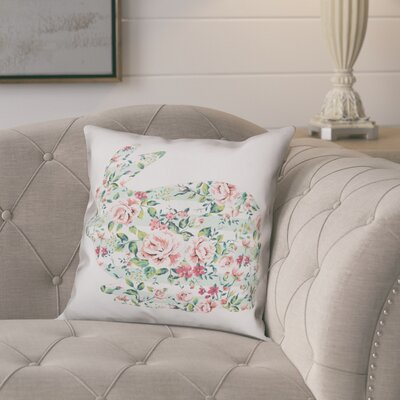 Critchfield Floral Tranquil Rabbit Throw Pillow