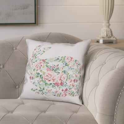 Critchfield Floral Tranquil Rabbit Throw Pillow