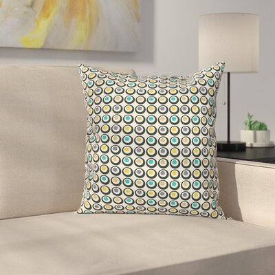 Bold Circles Polka Dots Square Pillow Cover Size: 16 x 16