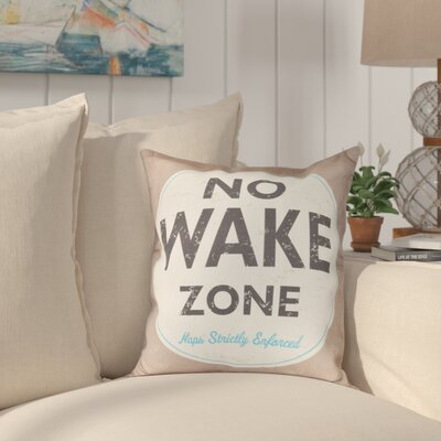 Golden Beach Nap Zone Word Outdoor Throw Pillow Size: 20 H x 20 W, Color: Beige/Taupe