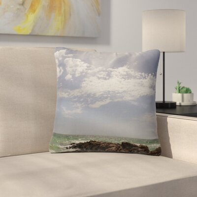Rosie Brown Clouds Coastal Photography Outdoor Throw Pillow Size: 18 H x 18 W x 5 D