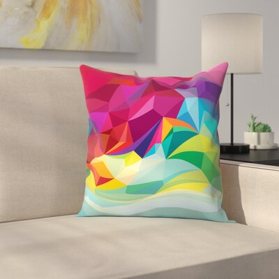 Joe Van Wetering Swirl Throw Pillow Size: 18 x 18