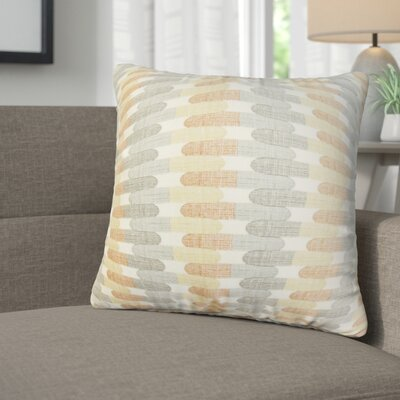 Julianne Geometric Cotton Throw Pillow Color: Gray