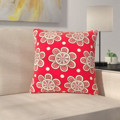 Sarah Oelerich Scarlet Flowers Floral Outdoor Throw Pillow Size: 16 H x 16 W x 5 D