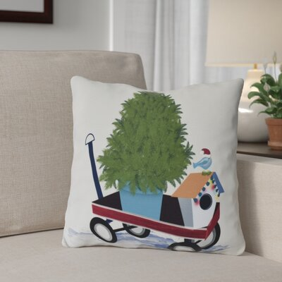 Take Me Home Throw Pillow Size: 18 H x 18 W, Color: Light Gray
