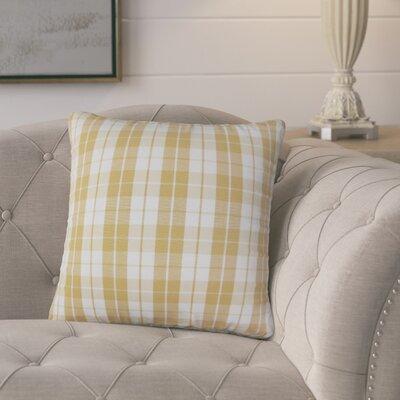 Schwaller Plaid Cotton Throw Pillow Color: Honey