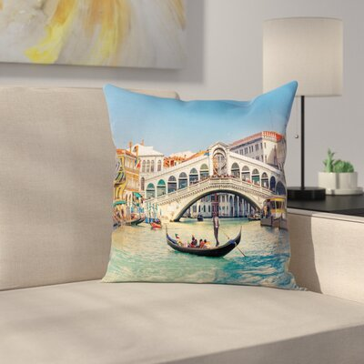 Venice Sunny Day Pillow Cover Size: 18 x 18