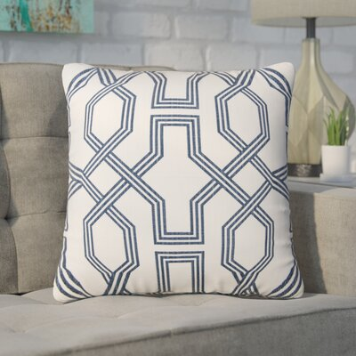 Keister 100% Cotton Throw Pillow Color: White