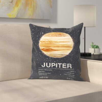 Tracie Andrews Jupiter Throw Pillow Size: 16 x 16