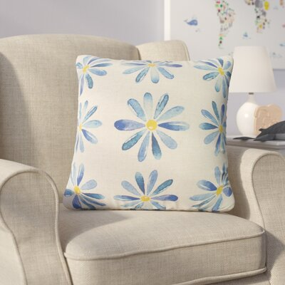 Christy Flowers Throw Pillow Color: Blue