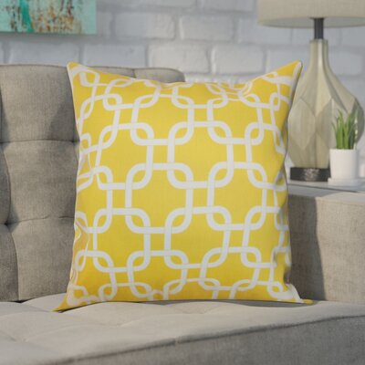 Sessums 100% Cotton Throw Pillow Color: Corn Yellow, Size: 20 H x 20 W