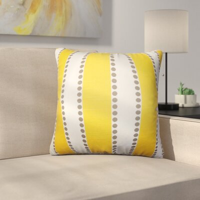 Rolston Stripes Cotton Throw Pillow Color: Yellow