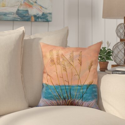 Cedarville Floral Print Throw Pillow Size: 16 H x 16 W, Color: Coral