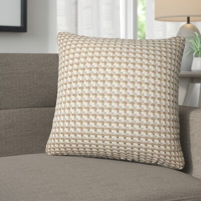 Salma Geometric Throw Pillow Color: Mushroom