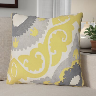 Scot Embroidered 100% Cotton Throw Pillow