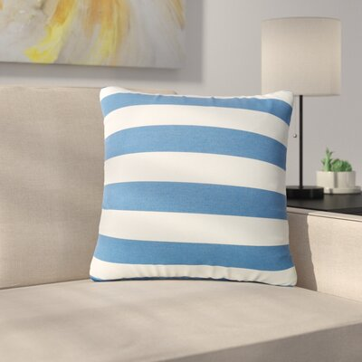 Mayle Square Striped Indoor/Outdoor Throw Pillow Color: Blue