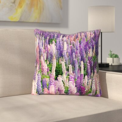Joyeta Field 100% Cotton Throw Pillow Size: 18 x 18