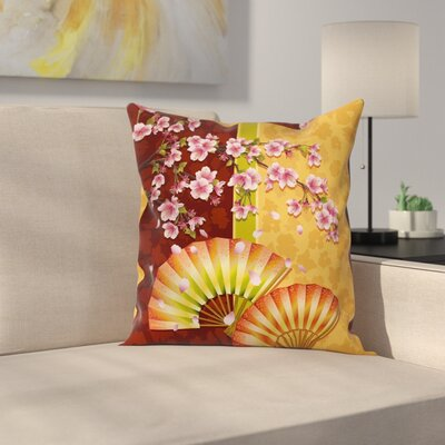 Stain Resistant Floral Graphic Print Square Pillow Cover Size: 16 x 16