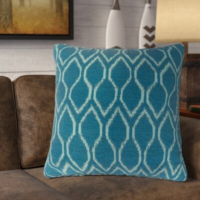 Estelle Contemporary Throw Pillow Color: Blue, Size: 22 x 22