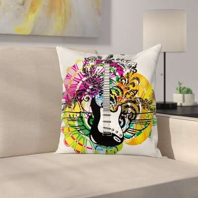Floral Vibrant Square Pillow Cover Size: 24 x 24